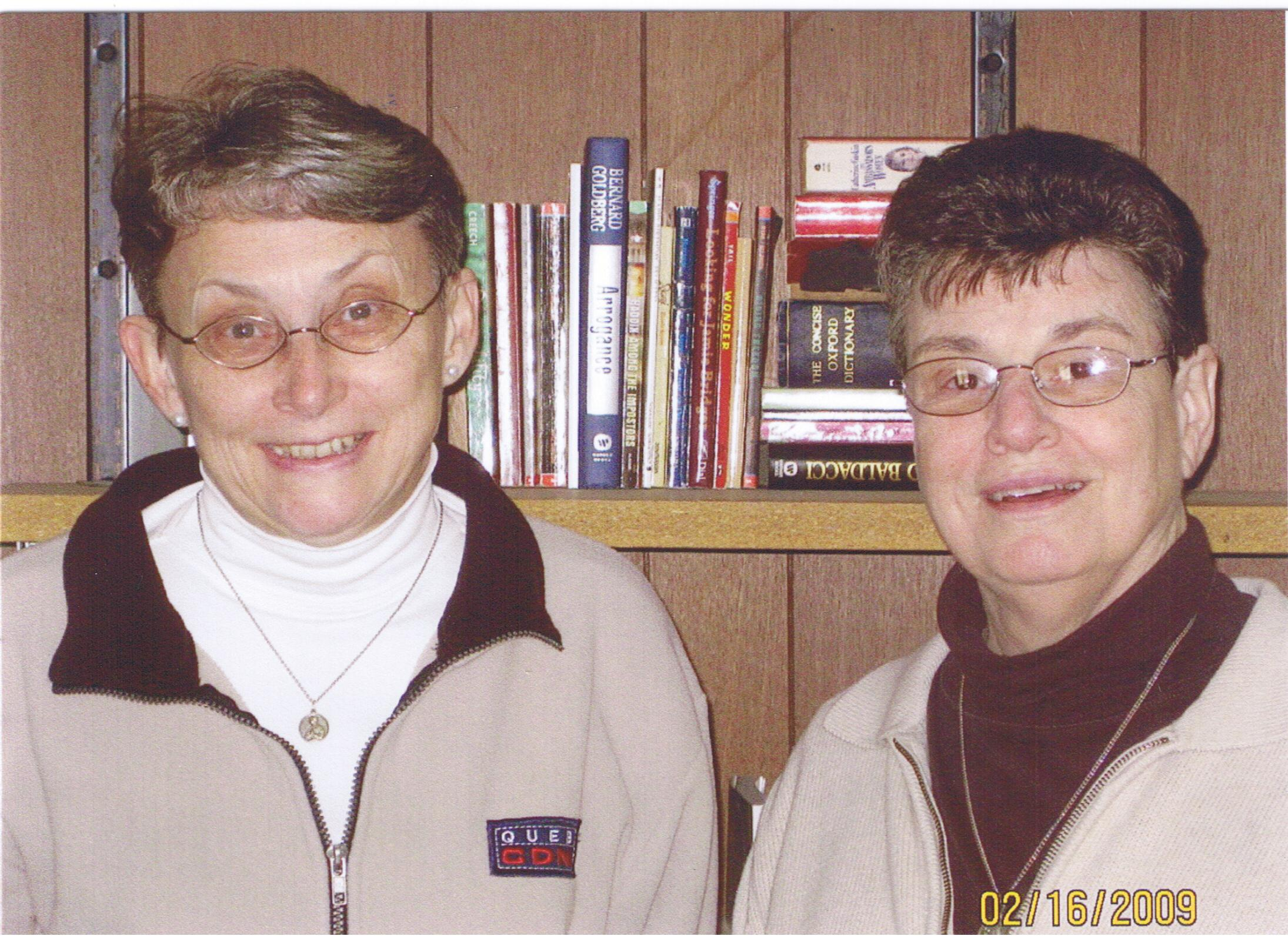 SR. Sandy Bates and Sr. Lucia Castellini